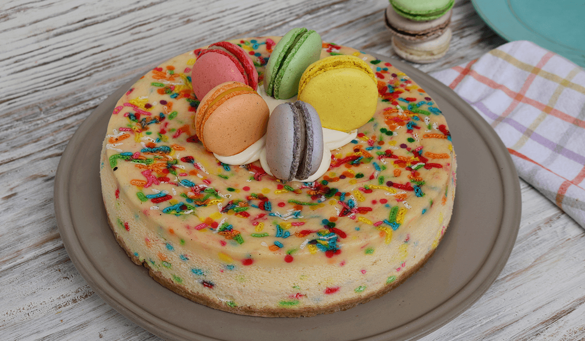 Cheesecake de colores
