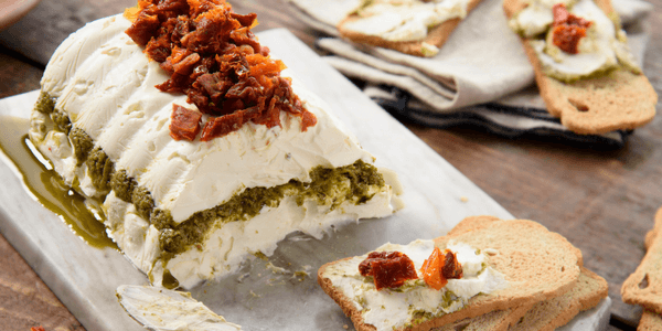 Molde de Queso Philadelphia® y Pesto