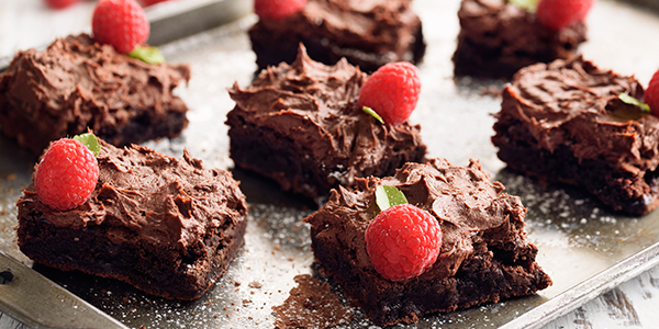 Brownies con Mousse de Chocolate